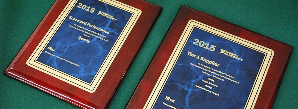 IREX RECEIVES NI SUPPLIER APPRECIATION AWARDS