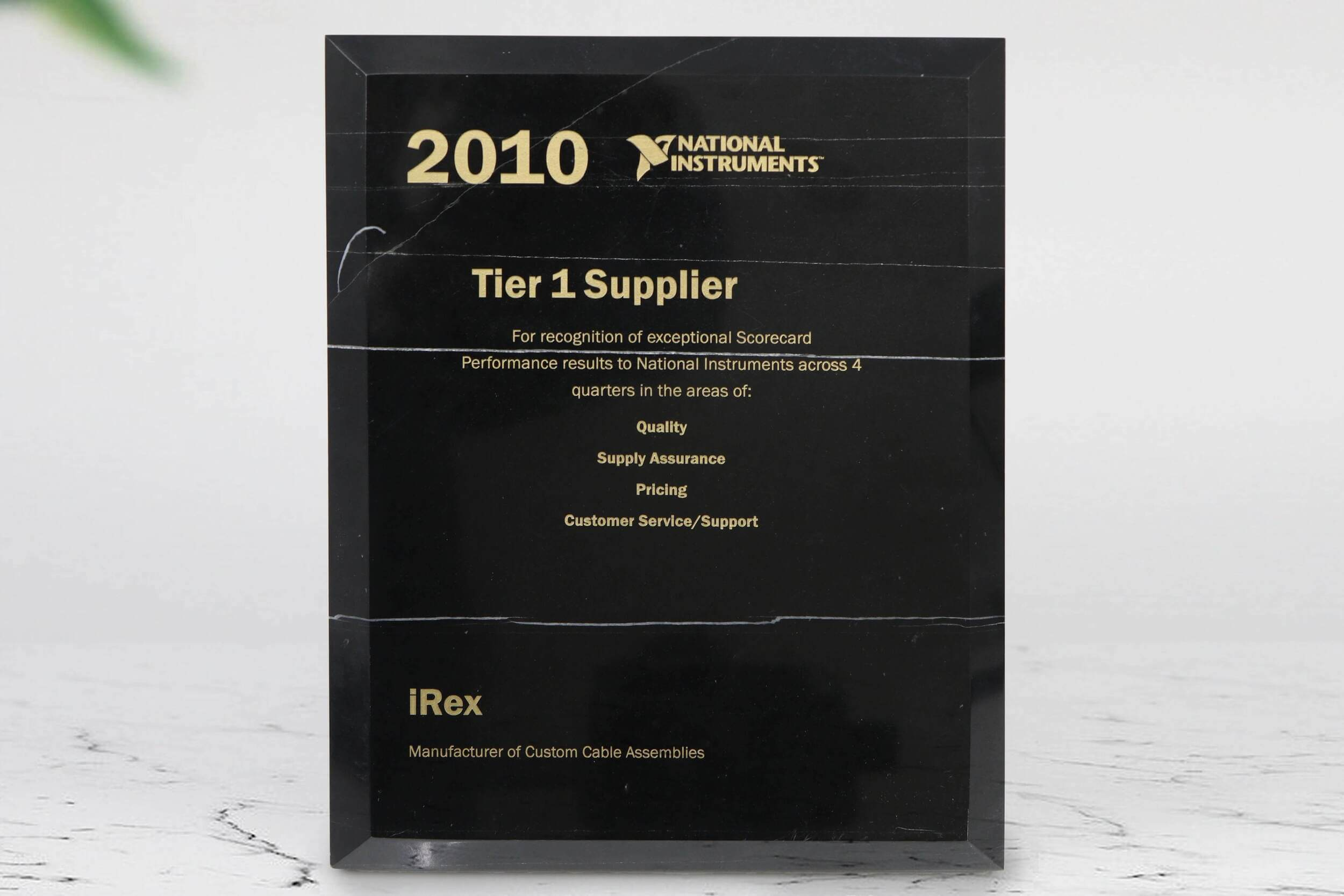 Awarded Tier 1 Supplier
